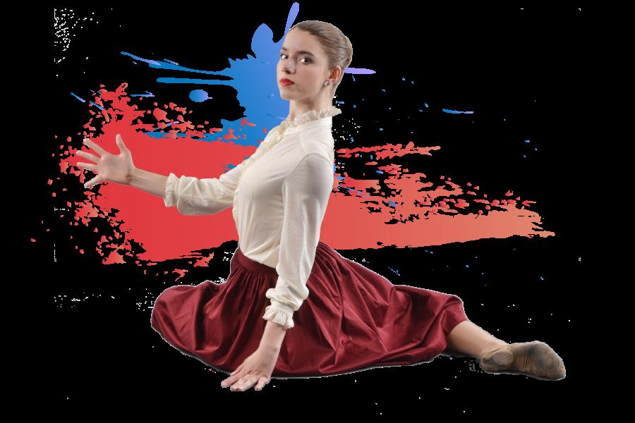 teen dancer in dramatic pose