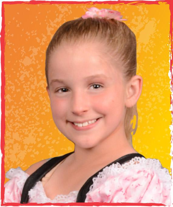 young girl acrobatic program acro