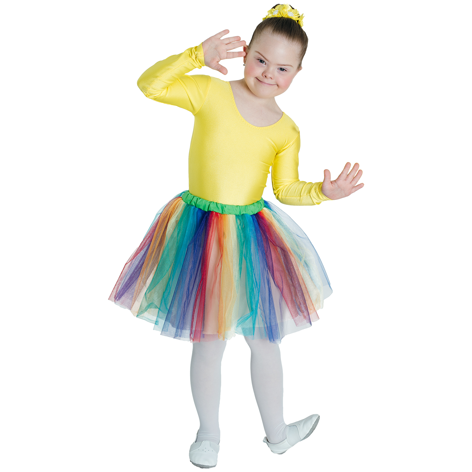 young dancer with special needs in dance costume