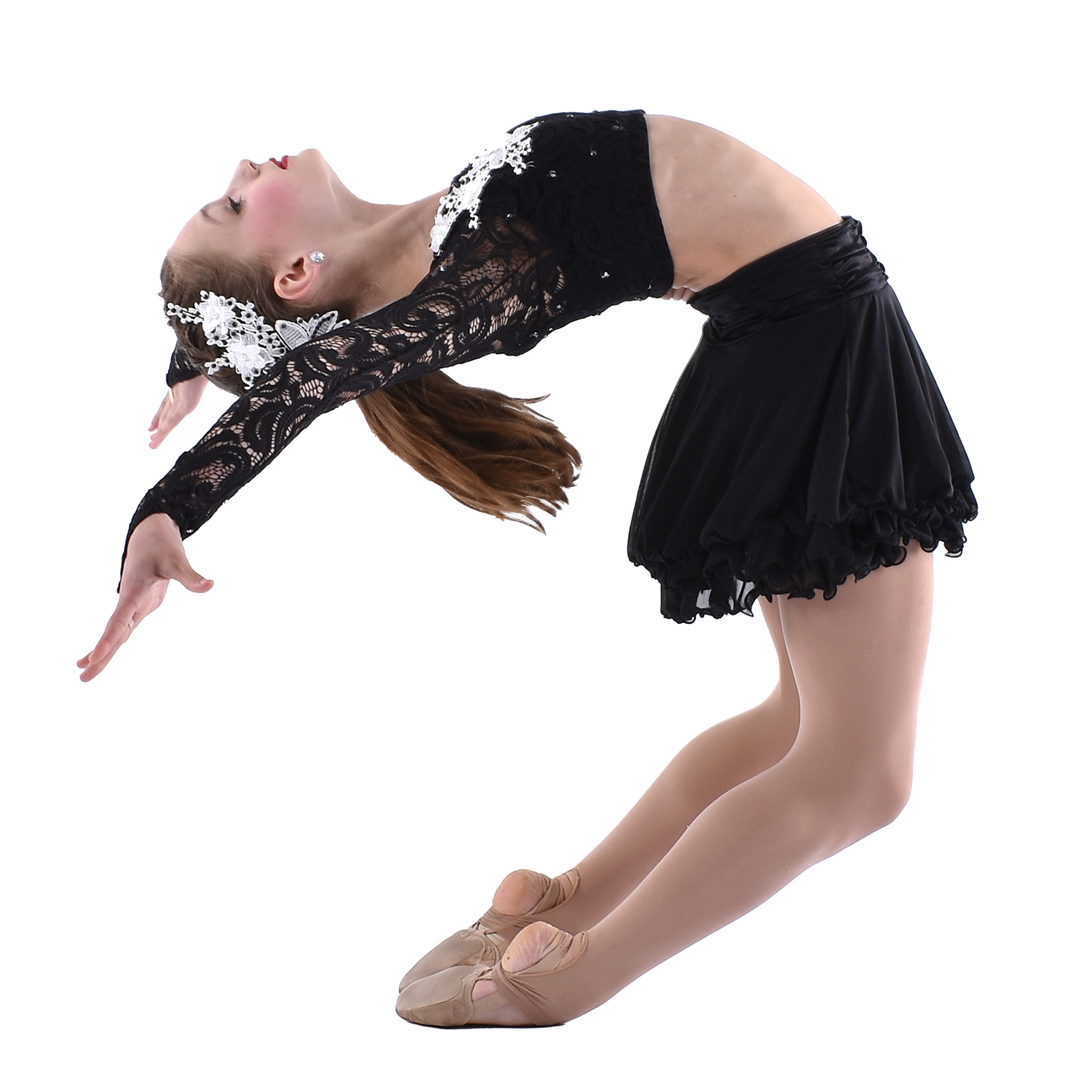 teenage dancer in dramatic dance pose