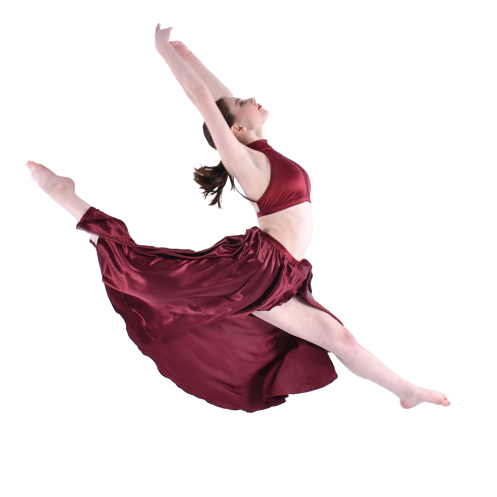teenage lyrical contemporary dancer jumping