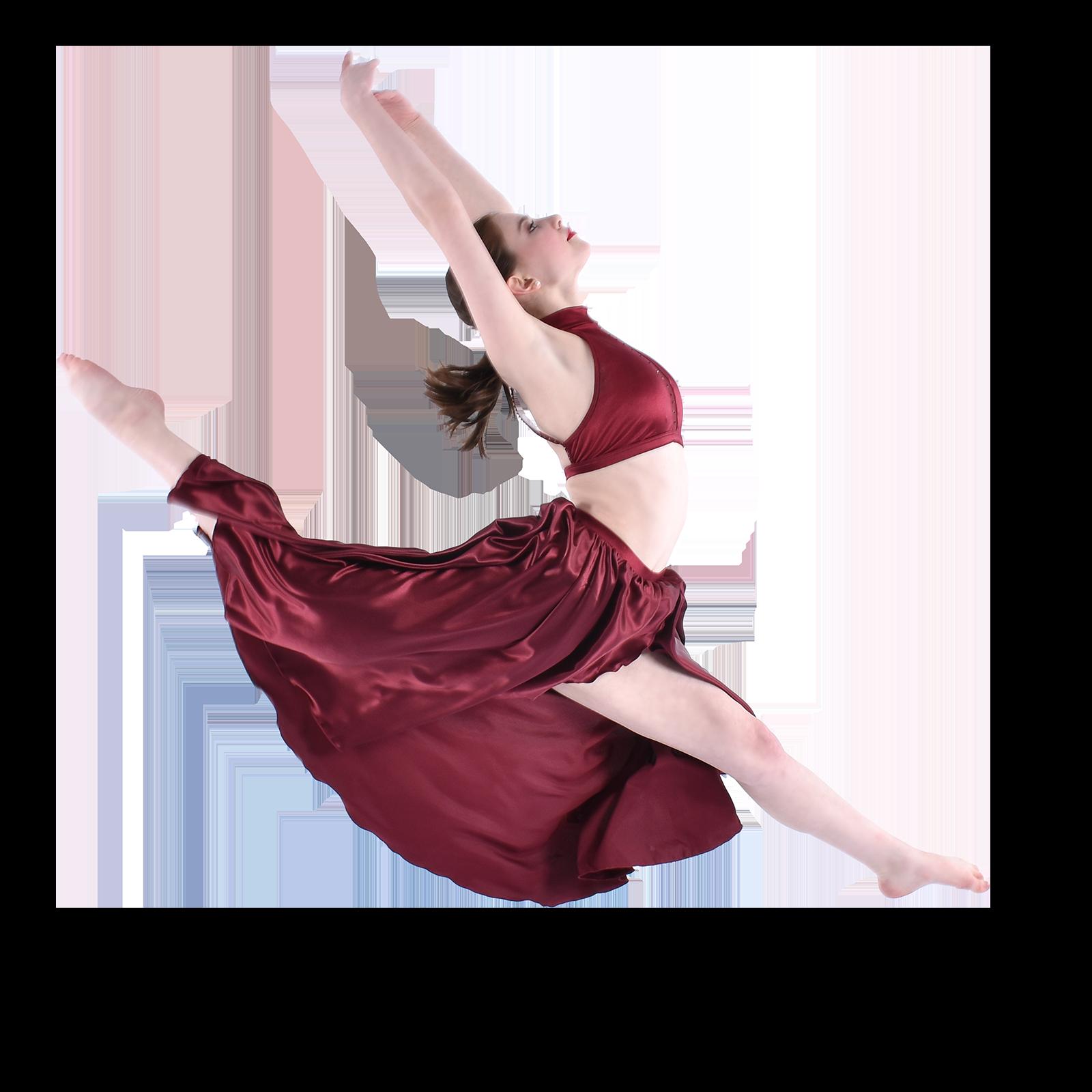 teenage lyrical contemporary dancer jumping