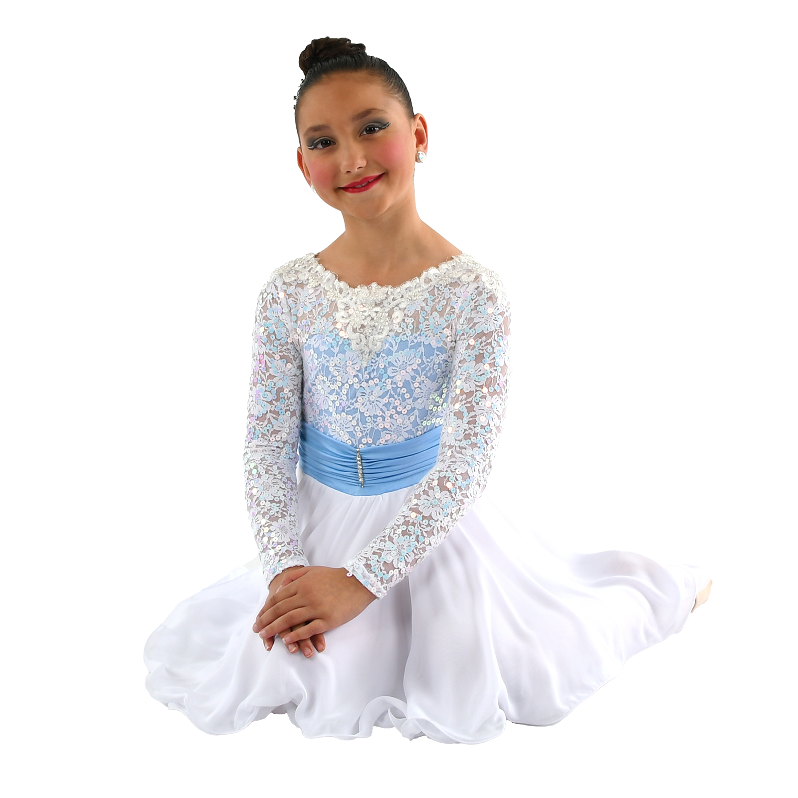 young Latina dancer posing in costume