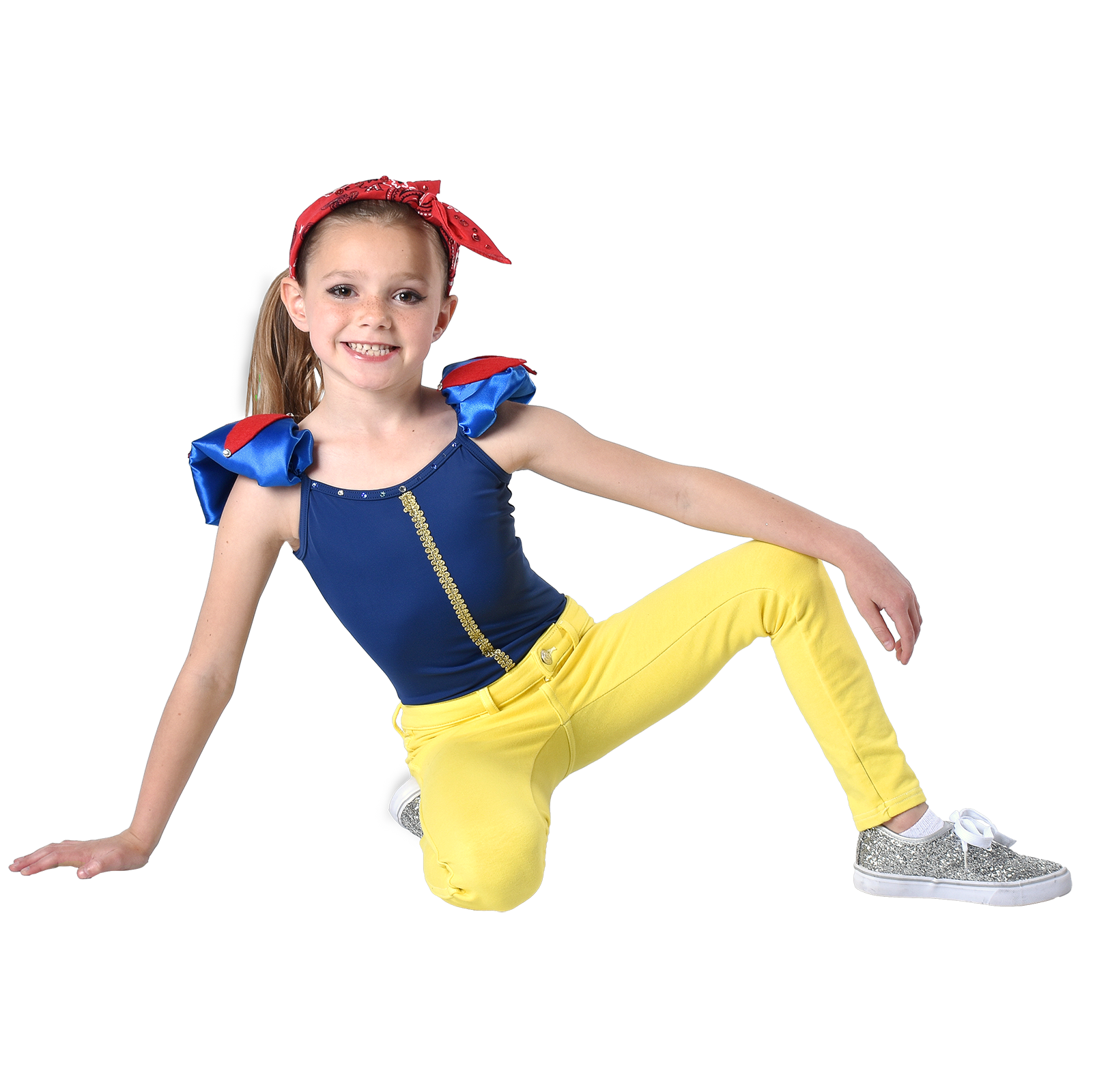 young girl in dance pose